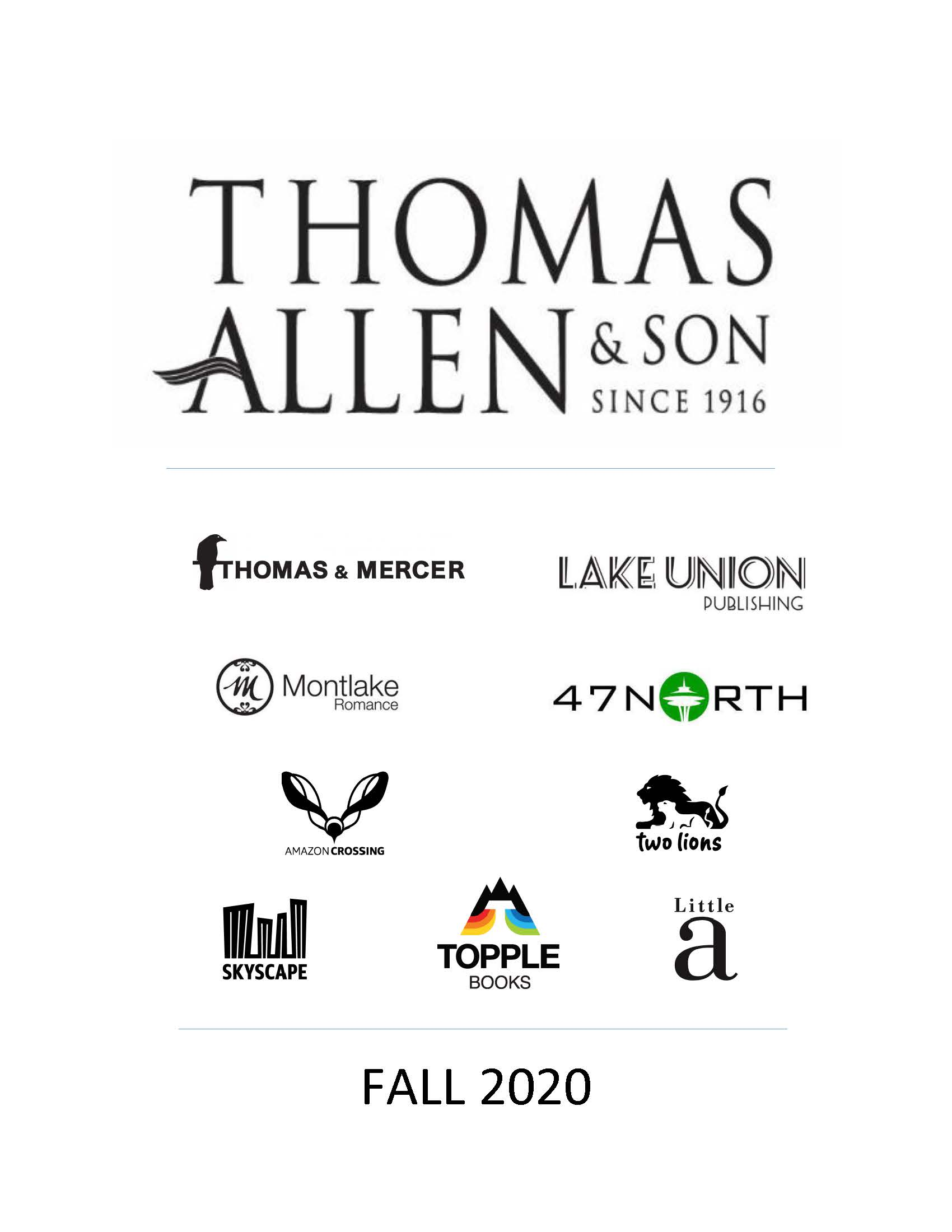 Thomas Allen General Trade Catalogue - Adult + Juvenile