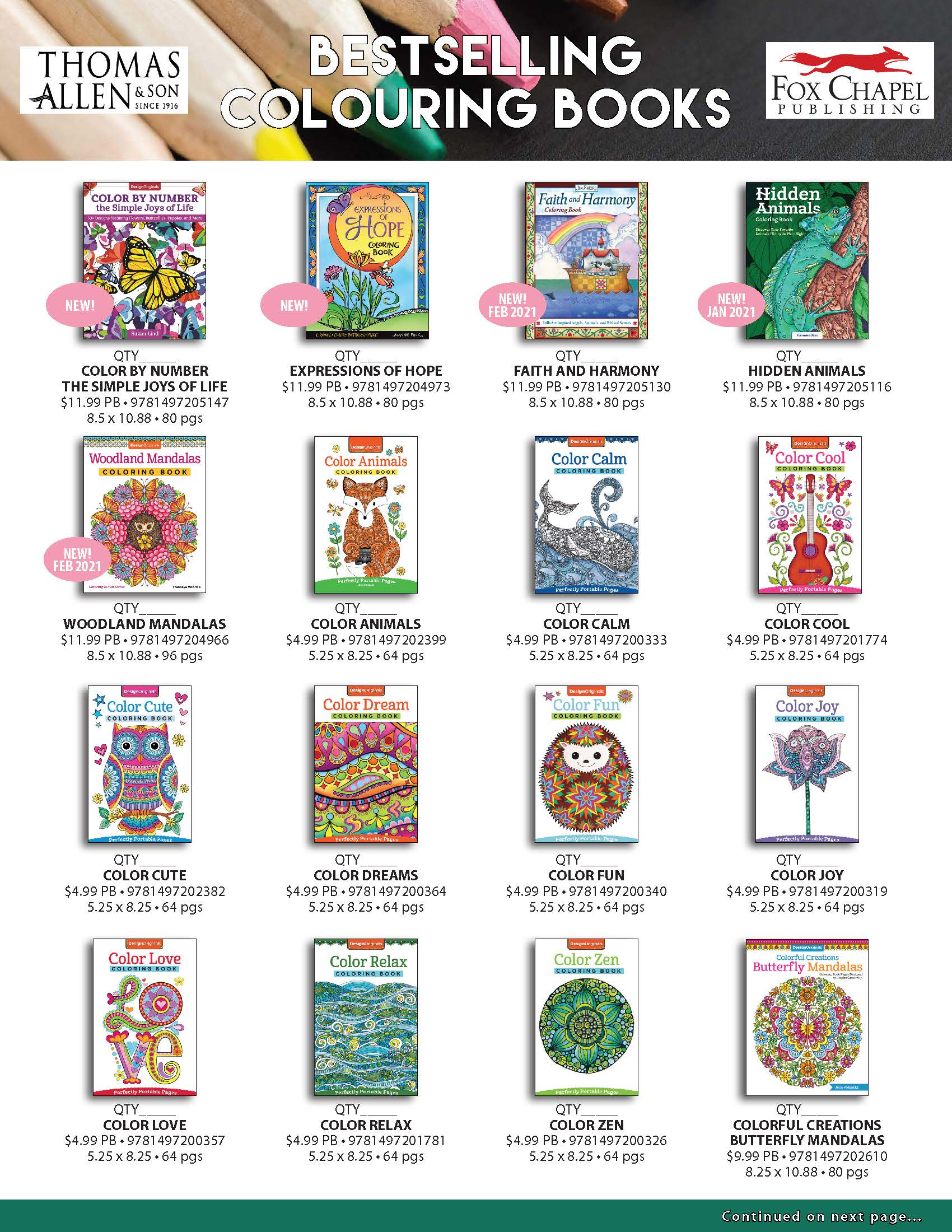 Bestselling Colouring Books